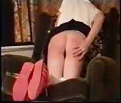 Blonde schoolgirl get spanked and loves it