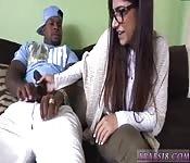 Mia Khalifa y su amigo negro
