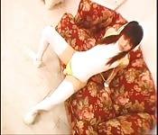 Chica asiática disfrazada