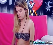 Horny Teen Masturbating on Cam play Her Wet Pussy
