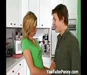 Seduced by his girlfriend's horny mom