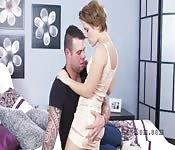 Petite Milf gets anal sex in bedroom