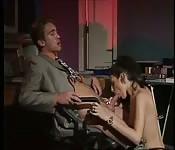 Zboczona sekretarka z Włoch uprawia seks z szefem