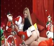 Vem, te senta sobre a rola do Papai Noel