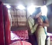 Amateur Indian clothed blowjob