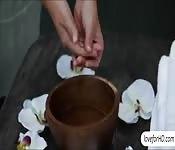 Lily Love and Malena Morgan massage sex