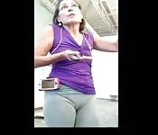 Nagranie z ukrycia cipki na siłowni