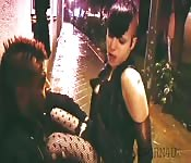 Slutty punk bitch wants to fuck on the street