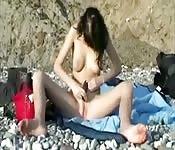 Masturberen op het strand