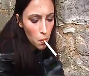 Cigarette smoking fetish compilation video