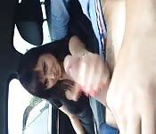 Spritzen im Auto