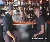Tapster rides two big black dicks