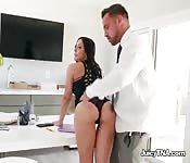 Curvy Babe Sucks Lawyers Big Cock