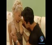 Edina Blond want to taste her boyfriend's cum