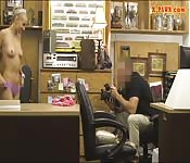 Perky tits blond girl railed by pawn man
