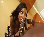 Ebony babe fucked in the ass by a big cock