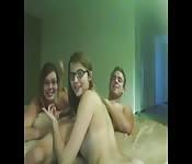 Trio met de nerds van de klas