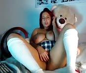 Webcam-Mädchen masturbiert