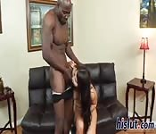 Latin girl and a black cock