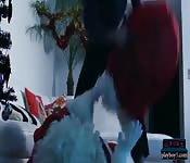 Santa fucks bombshell Jasmin Jae hard