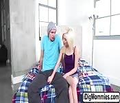 Milf Cory Chase sucks teens huge dick