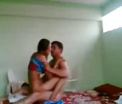 Couple fuck in a cheap hostel