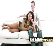 Big butt latina feeding her cunt