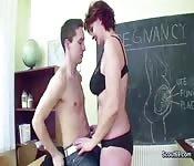 Geile Lehrerin und Student