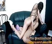Masturbación en directo para la webcam