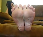 Cute toes on camera