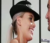 Policewoman blowjob