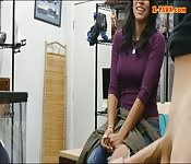 Curvy woman screwed by pawnshop owner