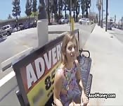 Bigtit from bus stop to deep fuck