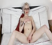 Geeky blonde home play