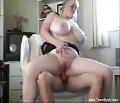 Huge titted amateur girl fucked on cam