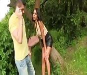 Sexo del bueno al aire libre