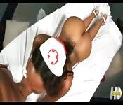 Horny ebony nurse