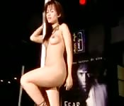 Stunning Asian stripper shows her skills on the pole