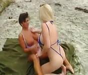 Zboczone lesbijki vintage z plaży