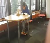 Foot fetish in public