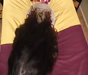 Scena di masturbazione della favolosa Ariella Ferrera