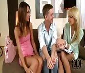 Curtindo um mènage com duas amigas