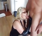 Blonde sucked cock tenderly