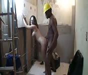 Polla negra y chica blanca