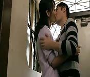 Amantes asiáticos adolescentes