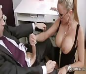 Busty MILF Secretary fucks for the promotion