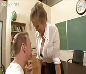 Sexy teacher seduces students father