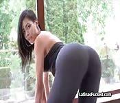 Beautiful big ass Latina works a cock