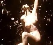 Vintage porno met een goddelijk vrouwelijk figuur
