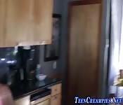 Teen in braces creampied
